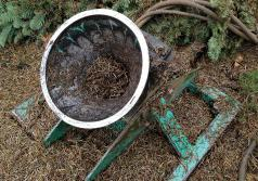 The receiving cone of the shaker should be cleaned of needles frequently. (Photo courtesy of Oregon Department of Agriculture.)